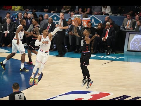 Damian Lillard Hits Back-To-Back 3-Pointers From Logo In 2019 All-Star Game | All-Star Weekend