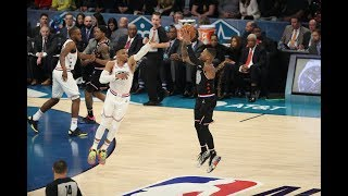 Damian Lillard Hits Back-To-Back 3-Pointers From Logo In 2019 All-Star Game   All-Star Weekend