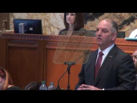 Governor John Bel Edwards Calls for Unity on the First Day of 2017 Regular Session