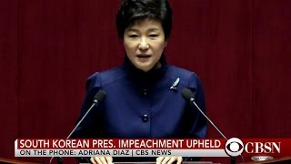 South Korean President Park Geun-hye removed from office