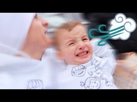 Terrible Wind Storm TERRIFIES Toddler!