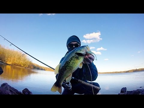 Northern Winter Bass Fishing With Keitech Swimbaits. MA. Bass, Pickerel, Perch, Crappie