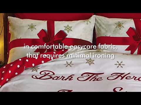 Catherine Lansfield - Christmas Party Animals Gold Bedding