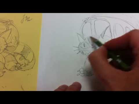 How to Draw The Cat Bus from My Neighbour Totoro (Studio Ghibli Character)