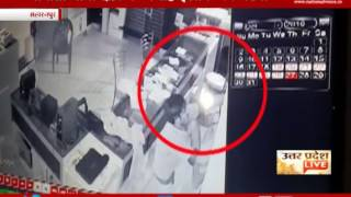 CAUGHT ON CAMERA: Thief entered the mobile store by breaking the shutter