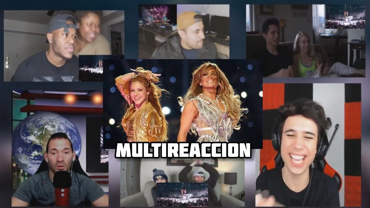 Reactions / Reacciones al Super Bowl 2020 Halftime Show l Shakira & J. Lo l Multi Reaccion l Mashup