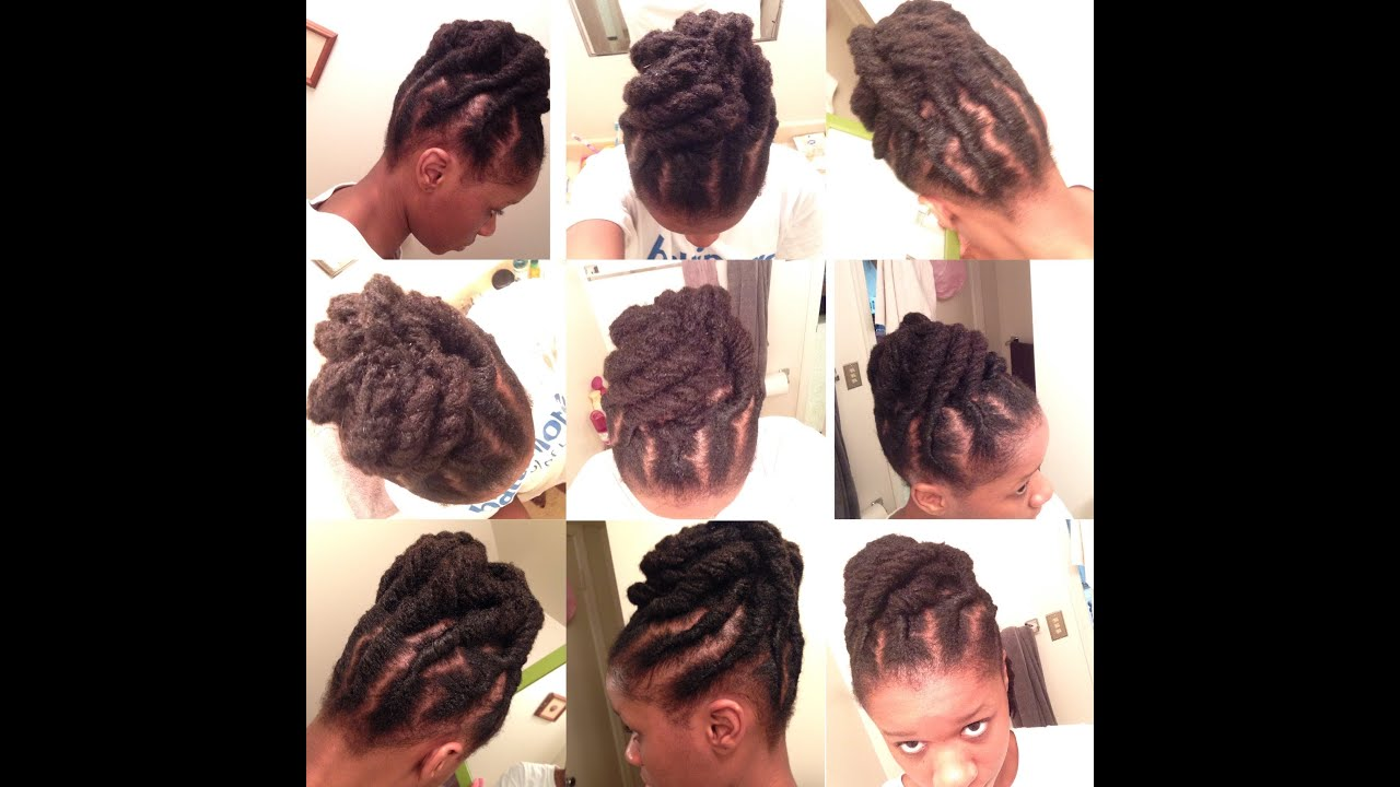 Quick Updo  for Short Locs YouTube