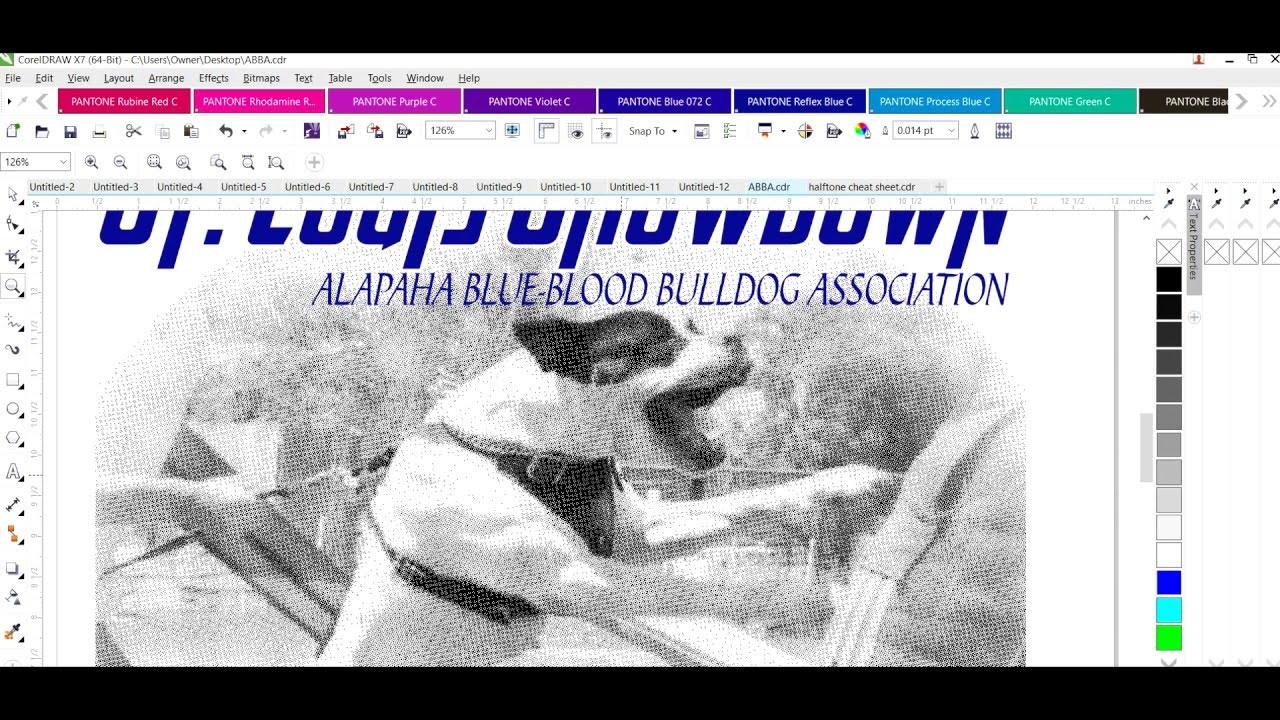 Print Halftones in CorelDraw using Ghostscript
