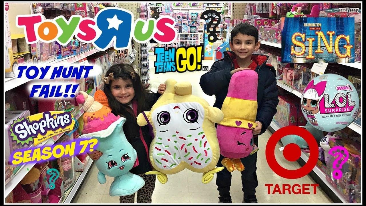 Toy Hunt Fail Toysrus Target Sing Teen Titans Go Lol
