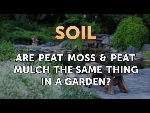 Are Peat Moss Peat Mulch The Same Thing In A Garden Youtube