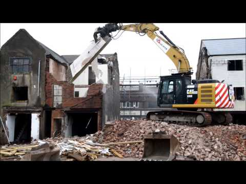 Demolition work under way in Bilston
