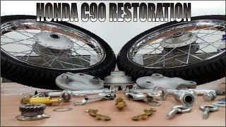 A Wheelie Good Idea -Part 3 ( Honda C90 FULL RESTORATION )