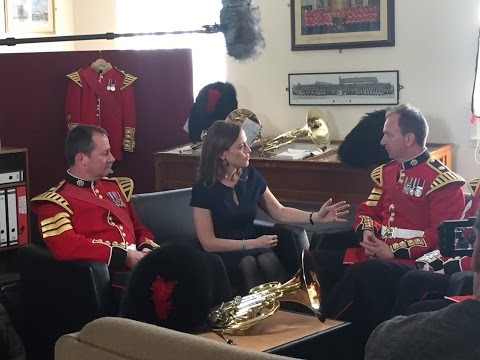 The Horn Section of the Band of the Coldstream Guards talk to Sarah Willis