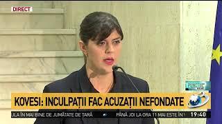 Baixar Laura Codruța Kovesi dă explicații după dezvăluirile făcute la Antena 3