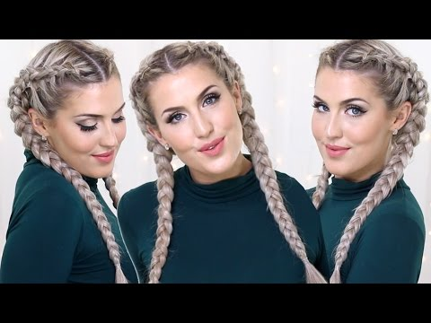 How to: Dutch Braids With Clip In Extensions