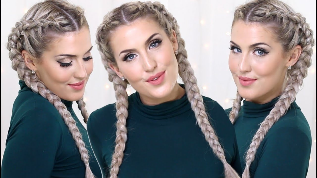 How to dutch braids with clip in extensions youtube pmusecretfo Choice Image