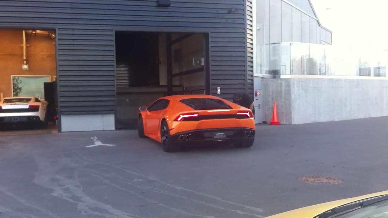 Lamborghini Huracan In Car Elevator Lamborghini Calgary Youtube