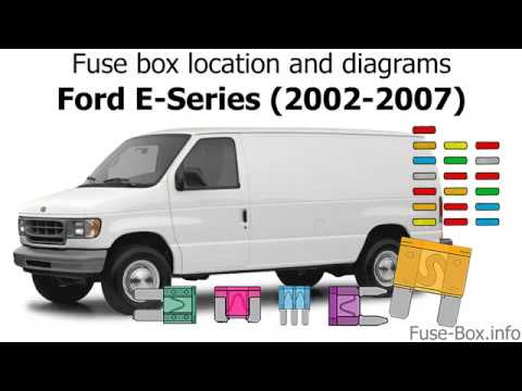 Fuse box location and diagrams: Ford E-Series / Econoline (2002-2008) -  YouTube | 2002 Ford E350 Van Fuse Diagram |  | YouTube