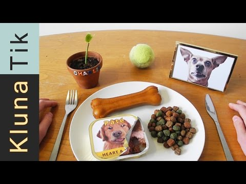 Eating DOG FOOD!!! Kluna Tik Dinner #40 | ASMR eating sounds no talk