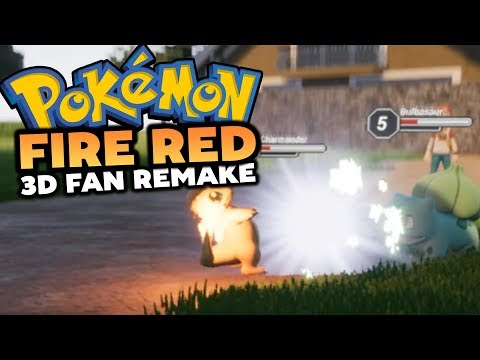 Pokemon Fire Red 3D Remake!? (Cancelled Pokemon Fan Game)