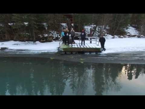 Cooper Landing Alaska via Drone Christmas 2016