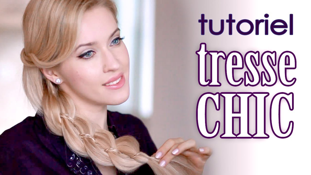Tuto coiffure cheveux longs tresse 4 brins facile - Creation facile a faire soi meme ...