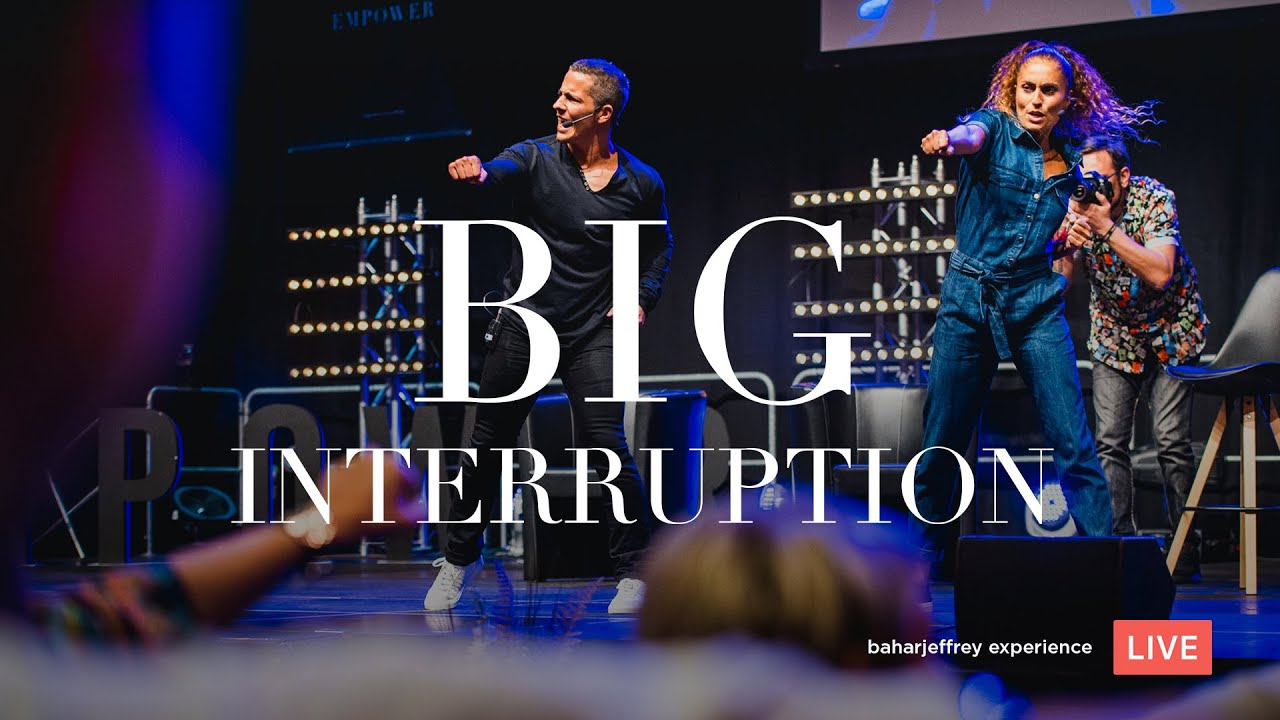 "Live Video mit Bahar & Jeffrey ""The Big Interruption"""