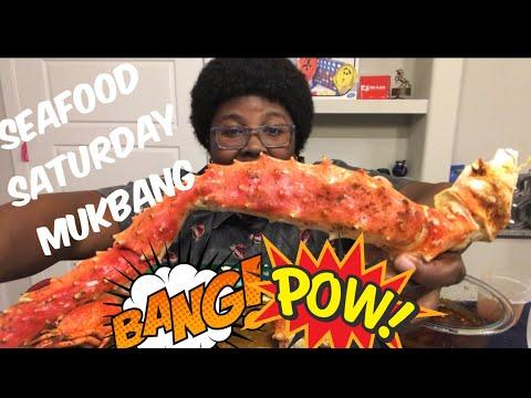 Seafood Boil MUKBANG 🦀   King Crab,Shrimp   BLOVES SAUCE   ASMR  Eating Show