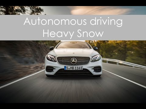 Autonomous Driving - Heavy Snow (E400 Coupe 4MATIC) - Police Action