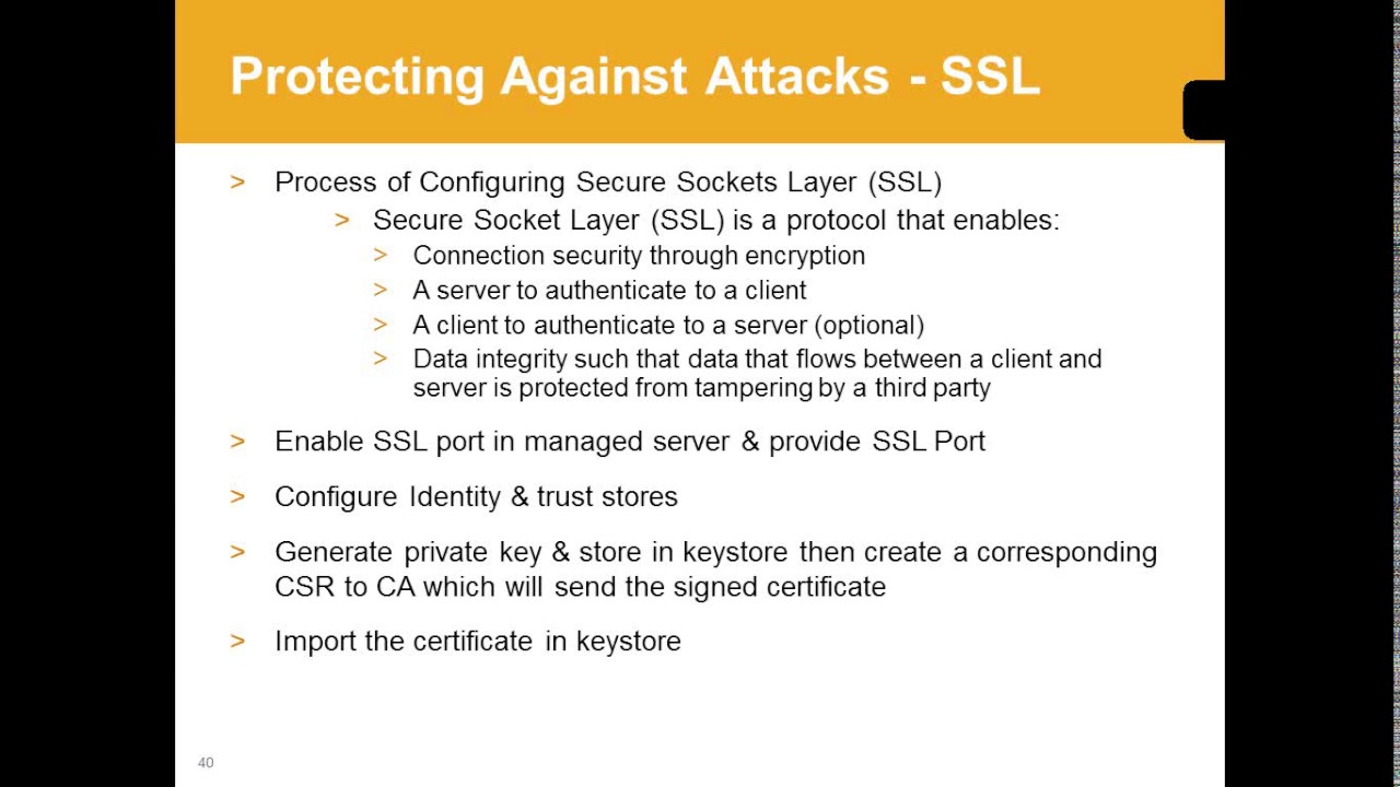 Weblogic Training - Session 16 - SSL in Weblogic
