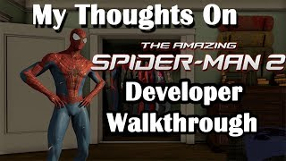 My Thoughts On The Amazing Spider-Man 2 Video Game Developer Walkthrough