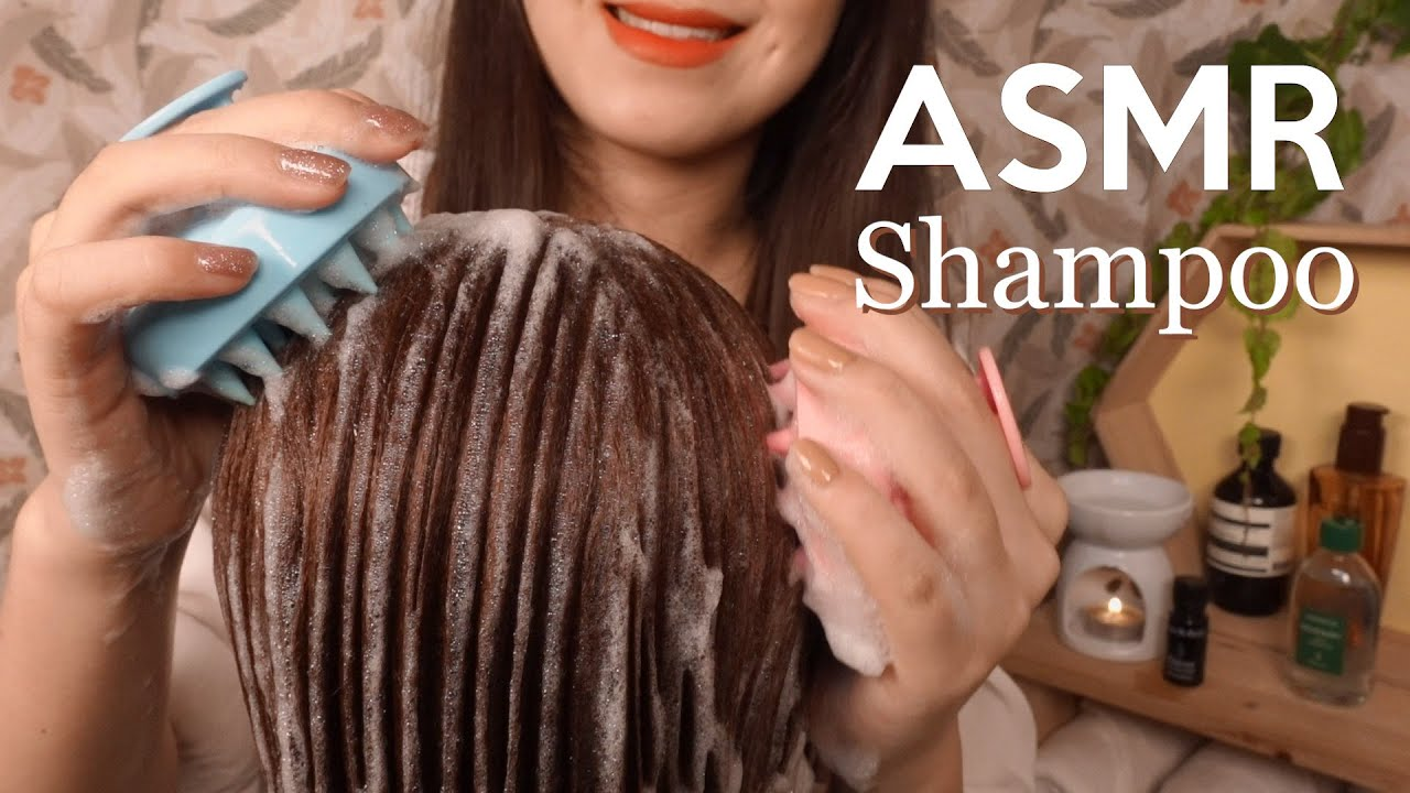 ASMR Relaxing Shampoo and Hair Wash🚿 (+ Hair brushing & Massage)|NO TALKING