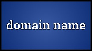 Domain name Meaning