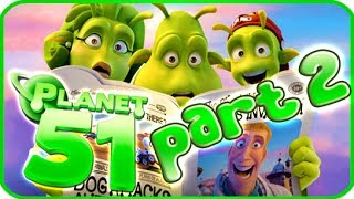Planet 51 Walkthrough Part 2 (PS3, Xbox 360, Wii) - Movie Game