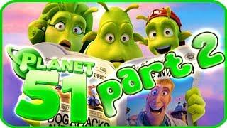 Planet 51 Walkthrough Part 2 (PS3, Xbox 360, Wii) - Movie Game