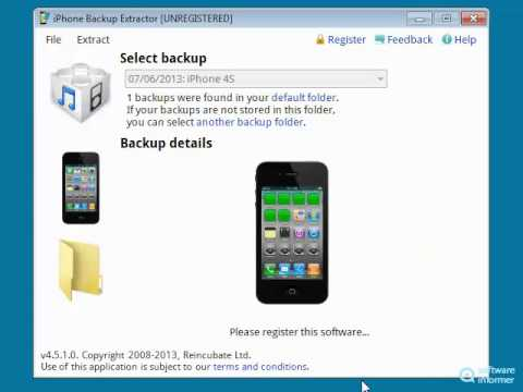 Trying out iPhone Backup Extractor
