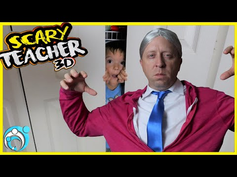 Scary Teacher Hide And Seek | Don't Be The Last To Leave Thumbs Up Family