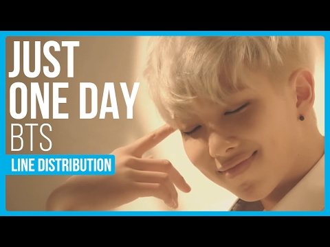 Bts - just one day line distribution (color coded) mp3