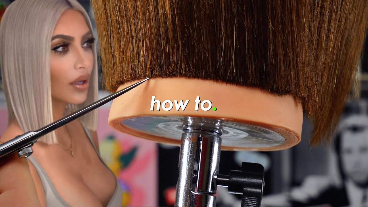 Tutorial Kim Kardashian Lob Haircut Hairtrend 2018 Youtube