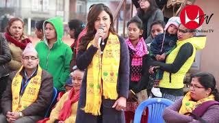Actress Sweta Khadka Sweet smile for chindren and Puja Karki Speaking