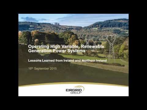 High Variable, Renewable Generation Power Systems: Lessons Learned from Ireland and Northern Ireland
