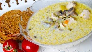 Очень вкусный суп • с шампиньонами и плавленым сыром