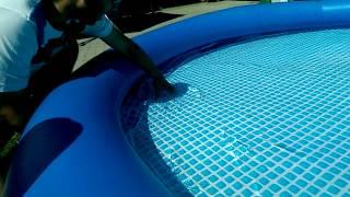 Vyrovnávání dna bazénu