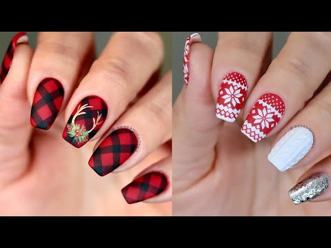 20+ Easy Christmas Nail Art Designs for short nails ❄ How to Paint your Nails!| Fashion By Girls - YouTube