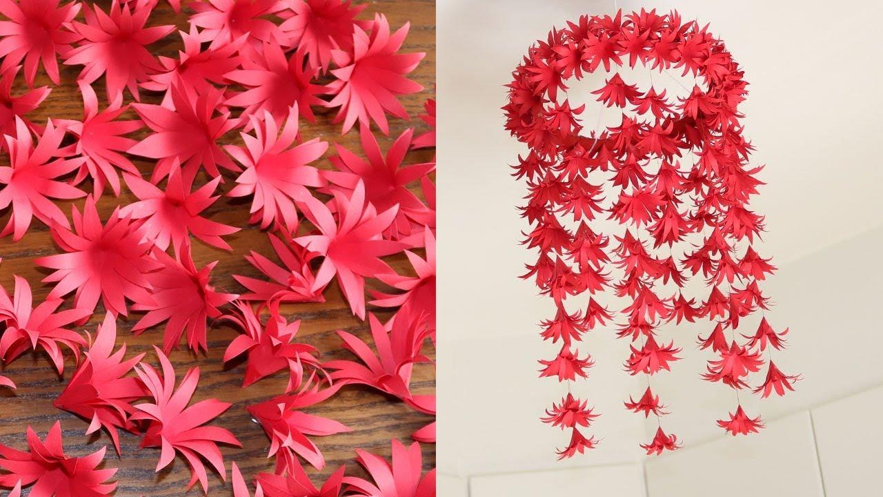 DIY Simple Home Decor - Hanging Flowers - Handmade ...