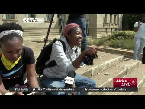 Students calling for free tuition clash with police in Johannesburg