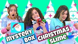 Mystery Box Christmas Slime Challenge!!