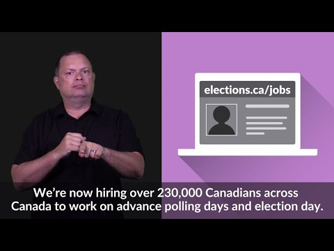 Work As A Poll Worker (ASL) | Elections Canada