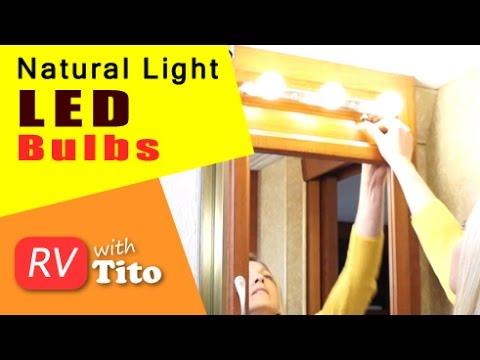 Natural Light LED Bathroom Lights for RV
