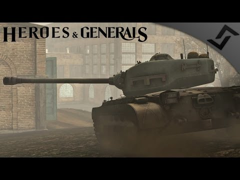 90mm Pershing Power - Heroes and Generals - American Heavy Tank Gameplay